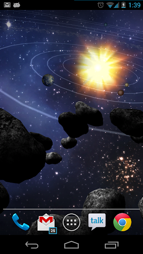 Asteroid Belt Live Wallpaper screenshot 6