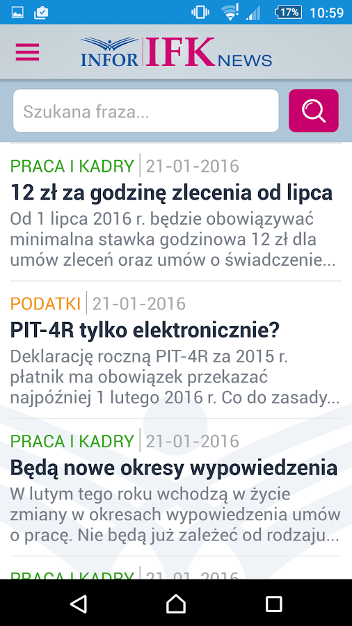IFK News- screenshot