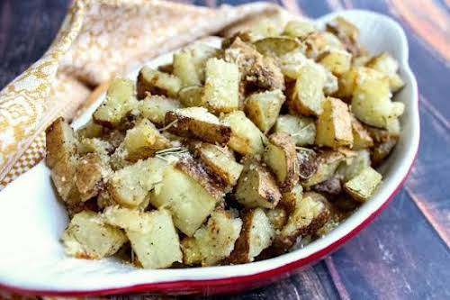 "Oven Roasted Potatoes with Olive Oil & Rosemary ""Full of great earthy..."