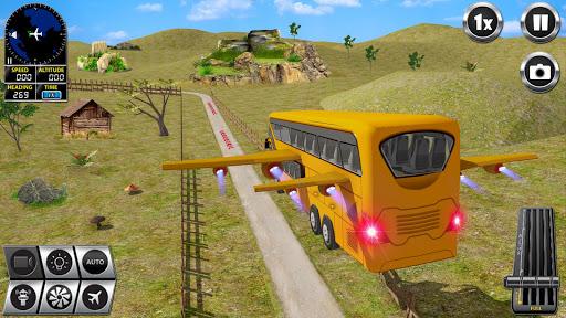 Flying Bus Driving simulator 2019: Free Bus Games screenshots apkshin 12