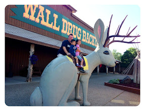 Photo: 3828 miles to Wall Drug from Hawaii. A favorite Americana place from when I was younger. Anya & Grant also enjoyed their free ice water! — at Wall Drug Store.