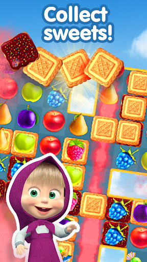 Masha and The Bear Jam Day Match 3 games for kids 1.4.47 screenshots 2