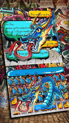 dragon graffiti keyboard screenshot 1