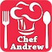 Chef Andrew cooking icon