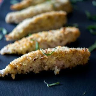 Pecan Breaded Baked Chicken Strips.