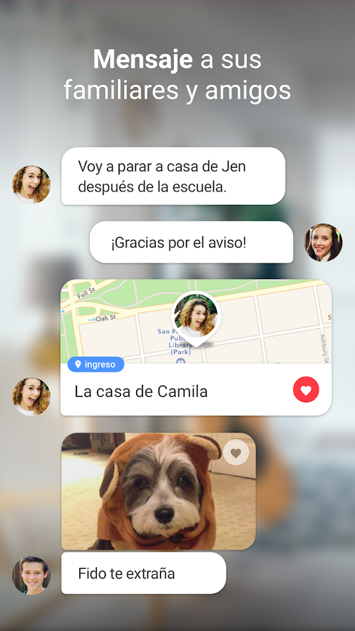 Localizador Familiar y Celular: captura de pantalla