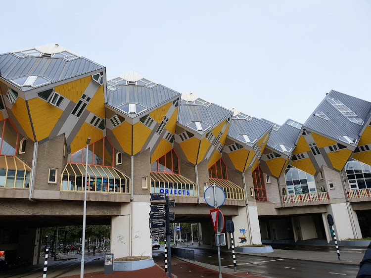 Cube Houses, Rotterdam. Picture: MADELEINE MORROW
