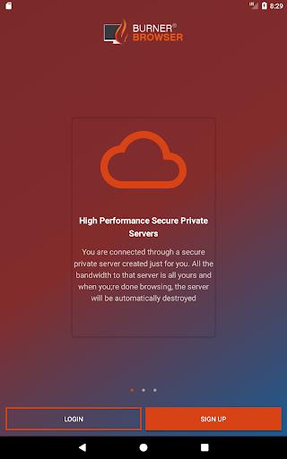 BurnerBrowseru00ae  - Secure, Private Burner Browser 1.1.3 screenshots 9