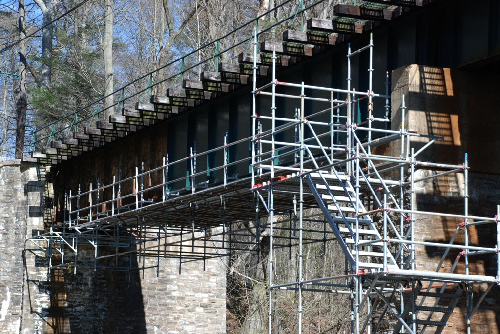 Hanging Bridge Platform Smedley Park Trestle Springfield Pa Superior Scaffold Services