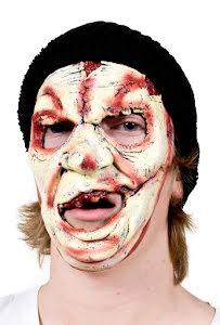 Mask, zombie med hatt och ärr