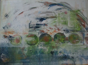 Photo: 'Spin The Earth' 30 x 40 Acrylic on Canvas Jacqui Hawk (c) 2012
