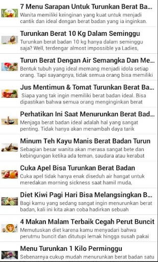 Resep Menu Diet Terbaru 2017 screenshot