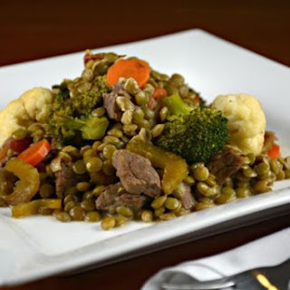 Curried Beef, Lentils and Vegetables.