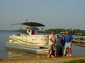 Photo: Lunch on Lake Marion, Steve (me), Pat, Marie, Hub