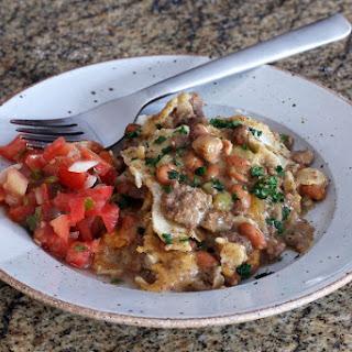 Crock Pot Beef Enchilada Casserole.