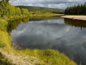 Photo: The Oulanka River is the border here - the beach on the other side is in Russia