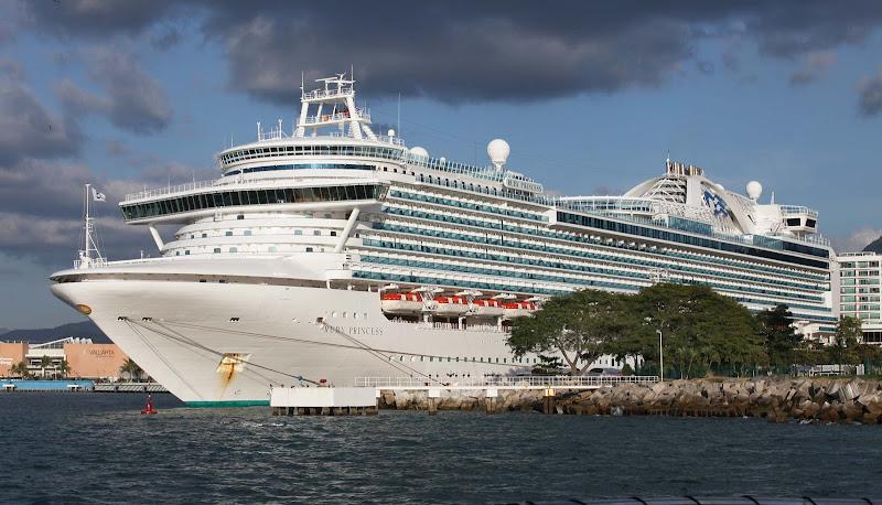 Ruby Princess docked in Puerto Vallarta, Mexico.