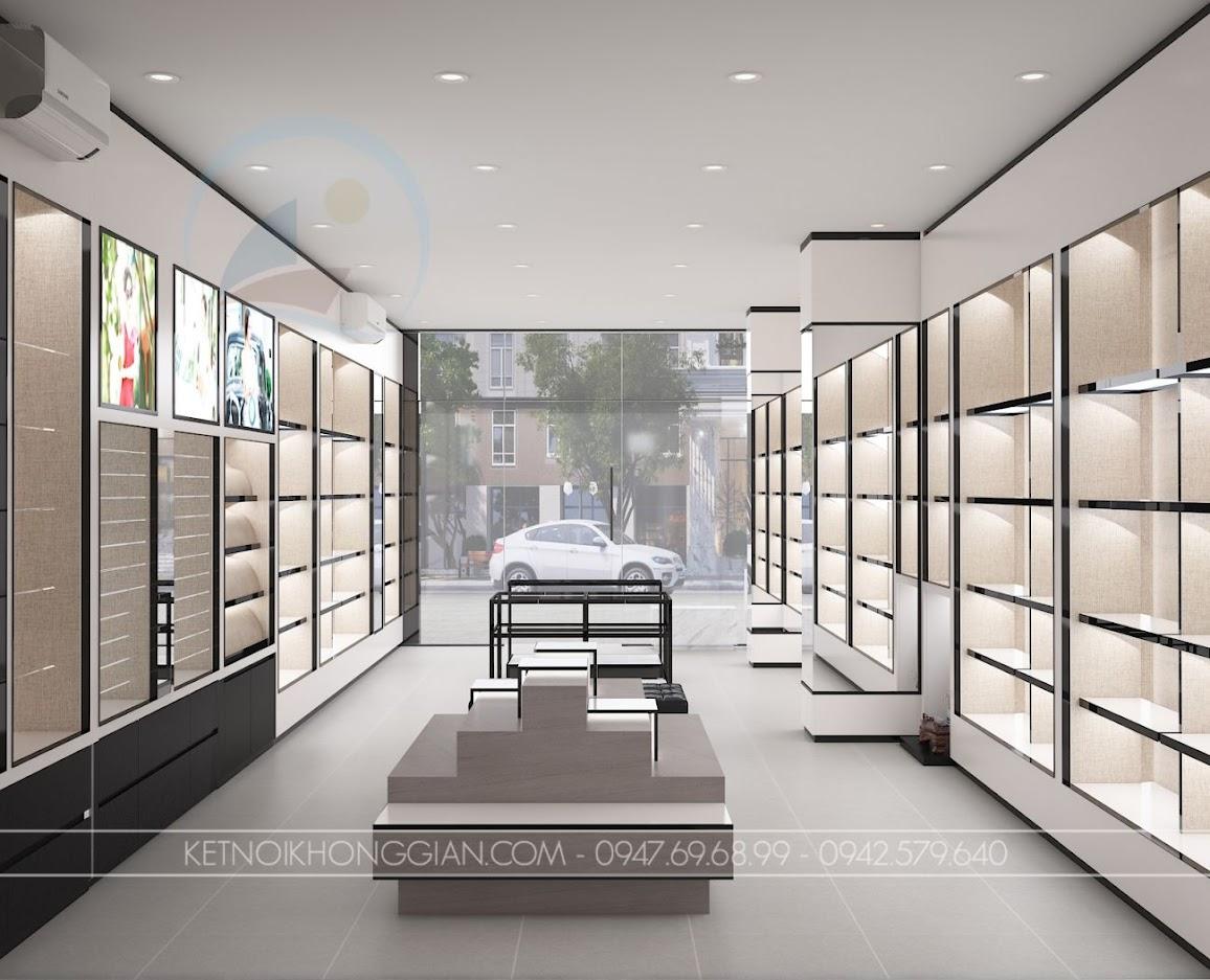 thiết kế cửa hàng túi xách elly
