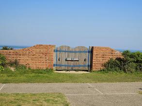 Photo: 角島の先まで車で行く。 ただの扉。