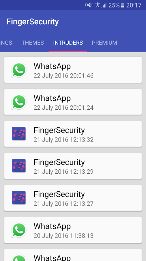 FingerSecurity: captura de pantalla