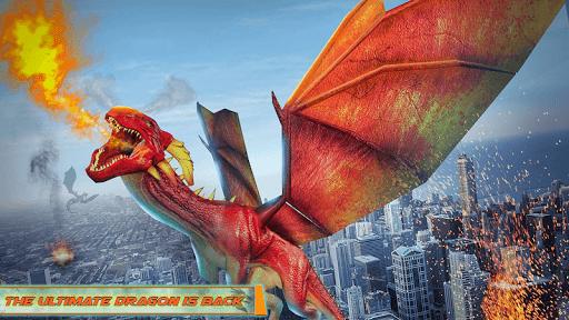 Flying Dragon Robot Car - Robot Transforming Games 2.5 screenshots 7