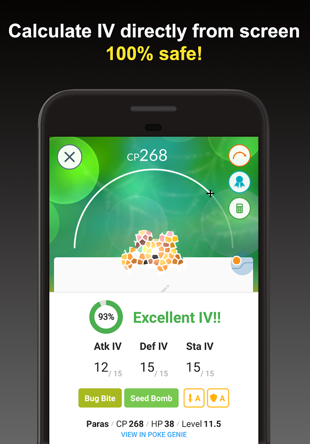 Poke Genie - Safe IV Calculator for Pokemon Go- screenshot