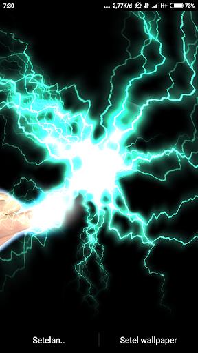 Electrical Lightning Touch Thunder Live Wallpapper screenshot 12