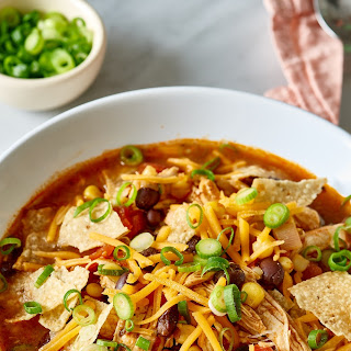 Easy One-Pot Chicken Taco Soup.