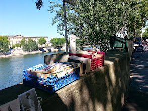 Photo: Book shopping by the Seine
