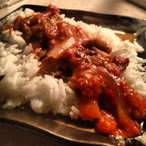 Ffried Chicken Smuthered In Tomato Gravy Recipe