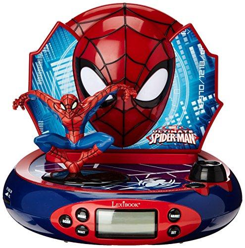 Spider-Man - Radio despertador con proyector, (Lexibook RP500SP)