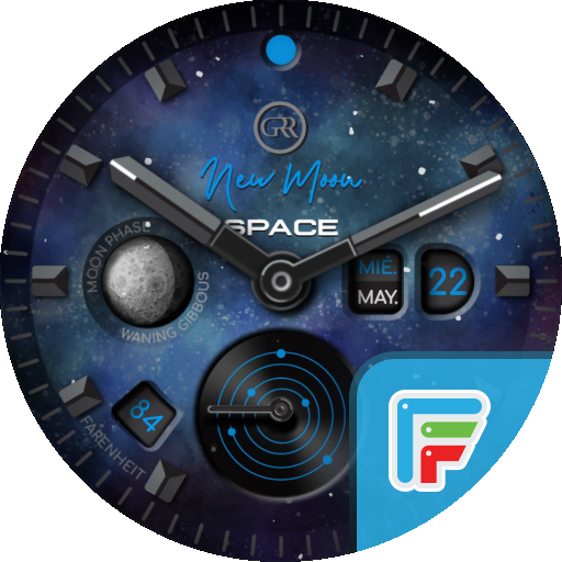 GRR  NEW MOON SPACE Watch Face