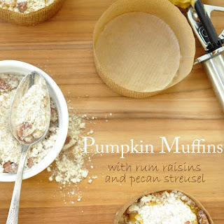 Pumpkin Muffins with Rum Raisins