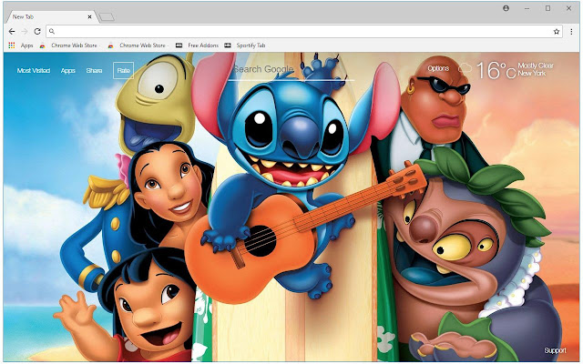 Lilo And Stitch Backgrounds Hd Custom New Tab