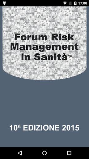 Forum Risk Management Sanità