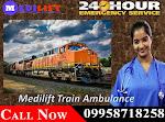 Get Medilift Air & Train Ambulance Facilities in Patna at Genuine Budget