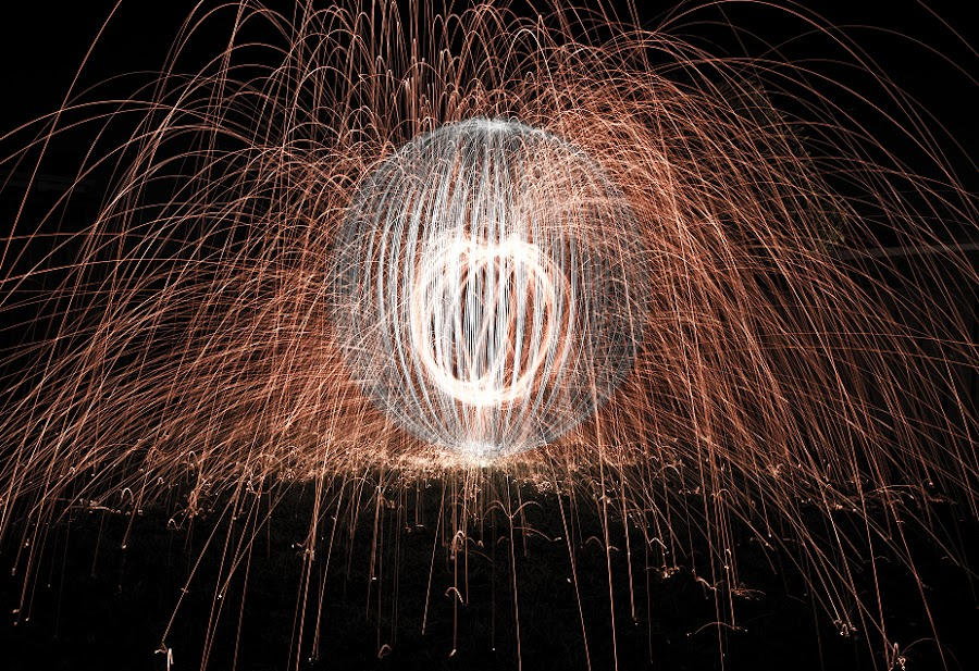 Sparks & Lights by Steve Chilton - Abstract Light Painting ( lightpainting, long exposure, sparks )