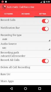 Automatic hovoru rekordér - náhled
