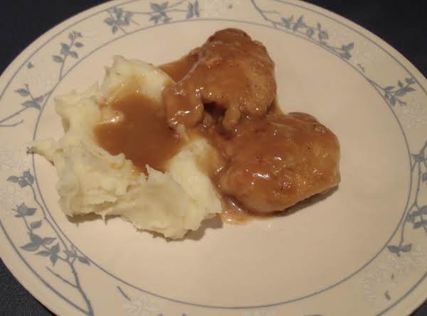 Gravy Smothered Chicken Thighs