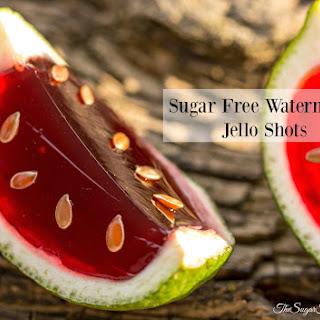 Sugar Free Watermelon Jello Shots