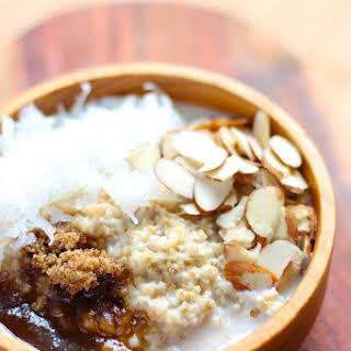 Slow Cooker Steel-Cut Oatmeal with Coconut & Almonds.
