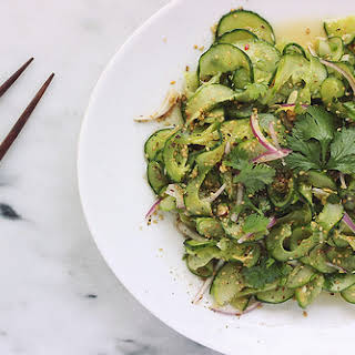 Spicy Sesame Ginger Asian Cucumber Salad.