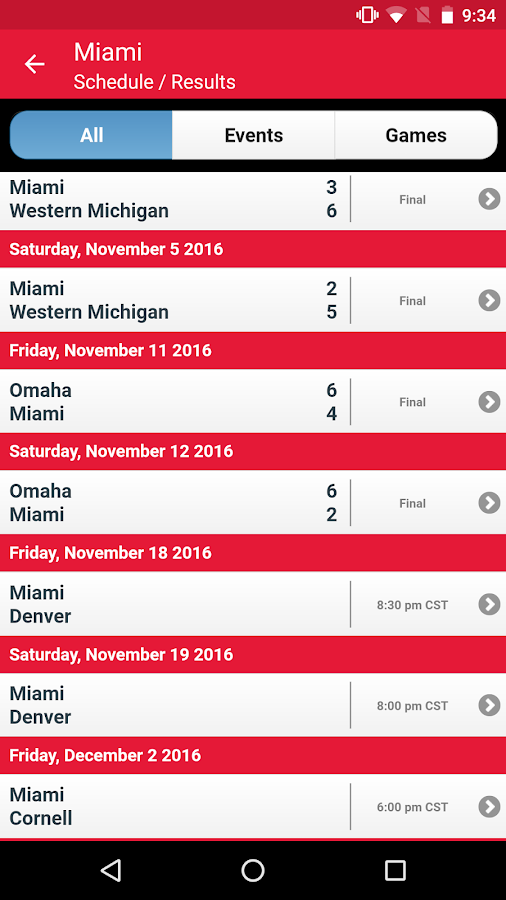 NCHC Hockey- screenshot