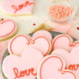 Valentine's Day Heart Cutout Cookies.