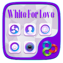 White For Love GOLauncherTheme icon