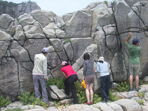 Photo: 「國中」的這面岩壁啊