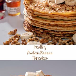 Healthy Protein Banana Pancakes.