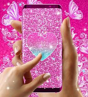 Pink glitter live wallpaper - náhled