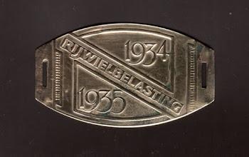 Photo: 1934-1935 Rijwielbelasting (van 1 augustus 1924 tot 1 mei 1941 een landelijke belasting op het gebruik van rijwielen)