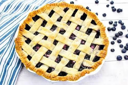 "Fresh Blueberry Pie""Fresh blueberry pie is one of my seasonal favorites. Be..."